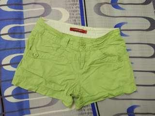 Lime green womens shorts #MMAR18