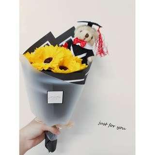 🚚 【just for you】畢業花束、向日葵花束、太陽花、活動花束