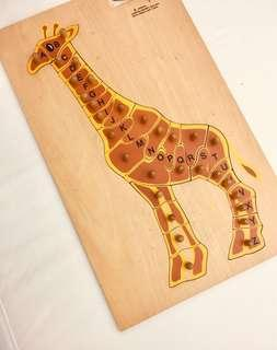 Learning alphabets with Gallie the giraffe
