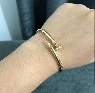 Cartier Nail Bangle 18k Saudi Gold