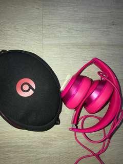 Beats solo2 headphones pink