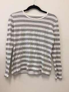 Muji grey stripe top