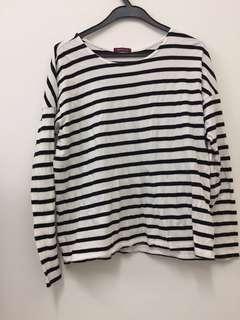 Cotton stripe top
