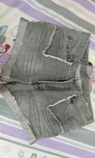 Gray Maong Shorts