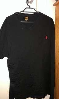 Black polo Ralph Lauren top xl