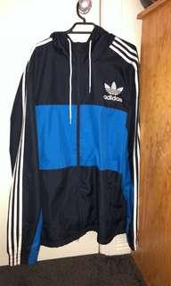 Blue adidas windbreaker xl