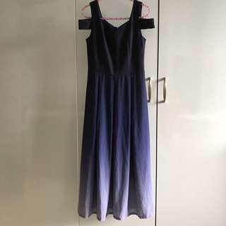 🚚 Ombré Offshoulder Maxi Dress