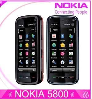 Nokia XpressMusic 5800 (Unlocked) Smartphone fullset verY good condition