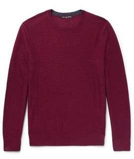 Michael Kors Wool-blend Sweater - Red/Burgundy - 99%New