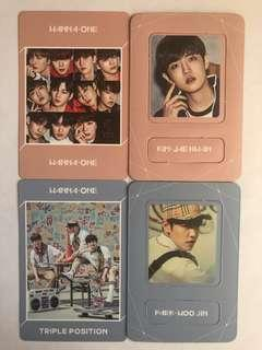Wanna One Album Inserts / Photocards