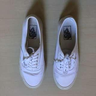 Authentic Vans All White