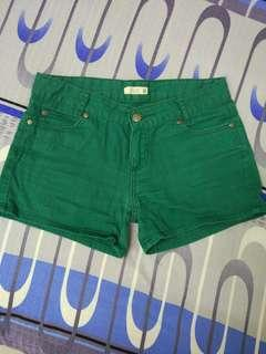Padini dark green women shorts #MMAR18