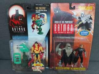 batman animated figure  兩個