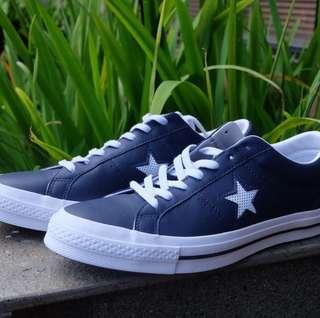 Converse One Star Leather Navy ORI NEW size 44