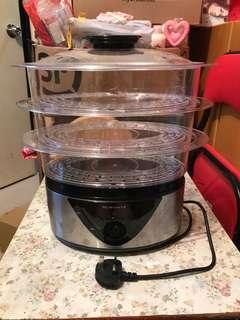 韓國品牌 Suwon 三層透明電蒸籠 [SFS-838] 家用  蒸汽鍋 大容量 多功能 健康美味 方便快捷 智能 包用 100%work 100%real