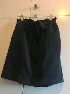 韓國黑色束腰半截裙 上班OL裙