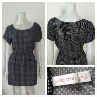 Xhilaration Black Polka Casual Dress