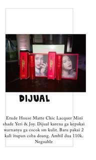 Matte Etude House Lip Lacquer Mini Red Velvet edition