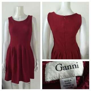 Ganni Maroon Semi Formal Dress
