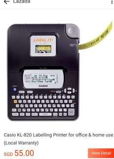 🚚 Casio KL-820 Labelling Printer for office & home Use