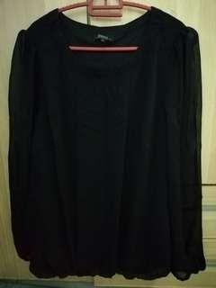 Black formal blouse