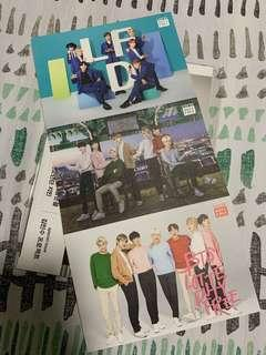 BTS Lotte Duty Free Postcards