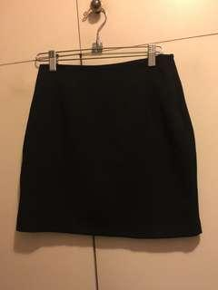 Korean Simple Black Skirt