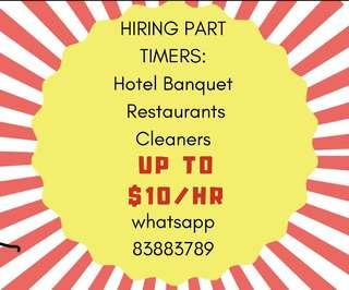 LOOKING FOR Part Timers!!! PAY UP TO $10/hr