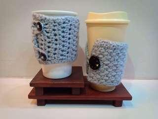 2 in 1 crochet cup cozy & wallet