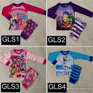ANY 2 for $10! GIRLS Long/Short Sleeve Pyjamas