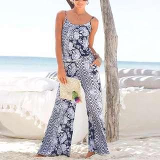 🚚 [PO] Boho Floral Strap Jumpsuit (17)