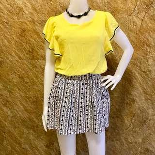 Yellow Aztec Dress