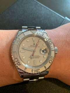 Mint Rare Rolex Yacht Master 16622 with Chapter Ring and Platinum Time Lapse Bezel