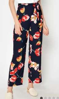 Love & Bravery ABRIL FLORAL FLARE PANTS NAVY XL