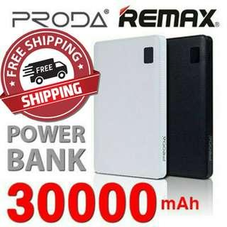 🚚 Remax Proda Powerbank 30000mAh Portable Battery Charger