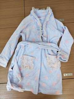 🚚 法蘭絨淡紫蕾絲睡衣~出價即談!