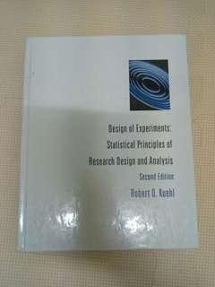 🚚 實驗設計原文書Design of Experiments:Statistical Principles of Research Design and Analysis/Second Edition #我要賣課本