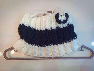 2 in 1 crochet bonnet & neck warmer