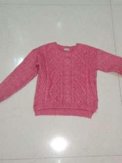 Next pink cable knit