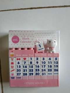 Block Calendar Etude House