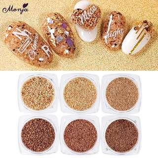 ❤SPECIAL WOOD Monja Nail Art Mixed Size Wood Powder Cork Dust Irregular Sequins UV Gel Polish DIY Manicure 3D Decorations scrapbook Accessories