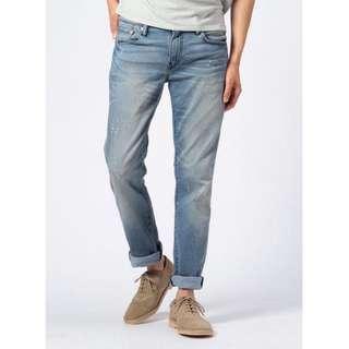 Levi's 511 COOL Jeans Levis 雪花洗白涼感丹寧丹寧褲 Levis W29 原價3780