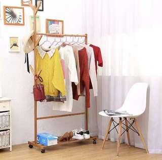 Standing clothes rack wood(preorder)