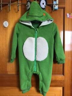 🚚 青蛙刷毛造型連身服