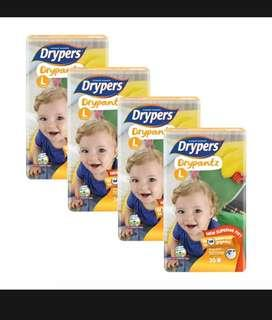 Drypers X 4 Packet @ $40 + Free Delivery