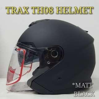 🚚 TRAX MATT BLACK TH08 HELMET..😎!!