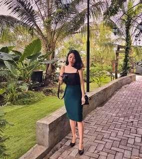 Green skirt / rok span