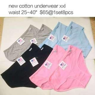 Cotton underwear xxl 女裝內褲