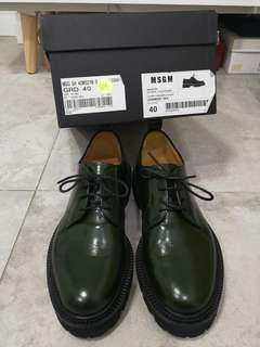 MSGM Oxford shoes authentic 90% new