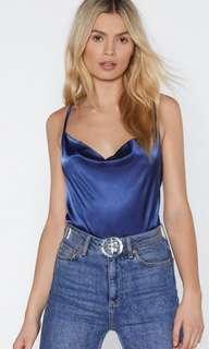 Royal Blue Cowl Neck Cami Size 8